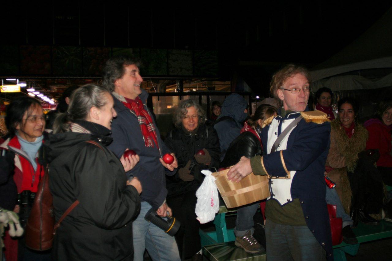 Le conteur André Lemelin à l'occasion de L'incroyable odyssée du Sergent recruteur, Festival interculturel du conte du Québec. 2009.